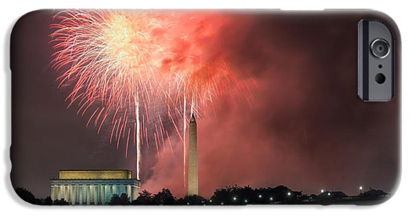 4th July Photographs iPhone Cases - Rockets Red Glare iPhone Case by Robert Fawcett