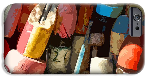 Abstract Digital Photographs iPhone Cases - Rockport Buoys iPhone Case by Jean Hall