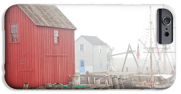 Fishing Shack iPhone Cases - Rockport Fog iPhone Case by Susan Cole Kelly