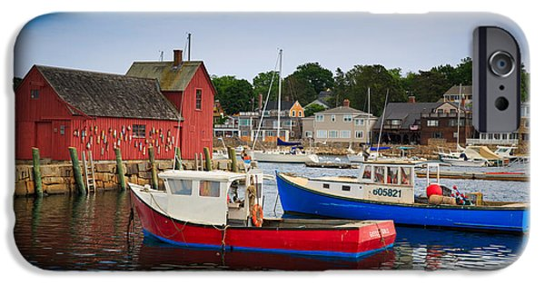 Cape Neddick Lighthouse iPhone Cases - Rockport Harbor 2 iPhone Case by Emmanuel Panagiotakis