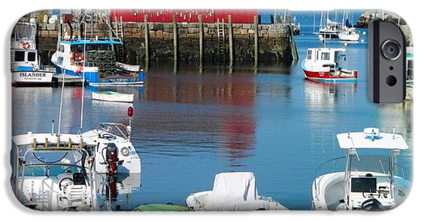 Town iPhone Cases - Rockport Harbor iPhone Case by Gina Sullivan