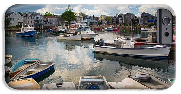 Boston Ma iPhone Cases - Rockport Harbor MA 3  iPhone Case by Emmanuel Panagiotakis