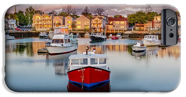 Pleasure iPhone Cases - Rockport Harbor iPhone Case by Susan Candelario