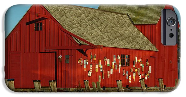 Fishing Shack iPhone Cases - Rockport Motif Number 1 iPhone Case by Juergen Roth