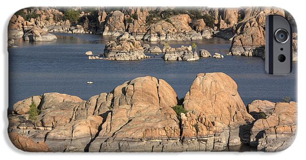 Watson Lake iPhone Cases - Rocks of Watson Lake  iPhone Case by Jacki Smoldon