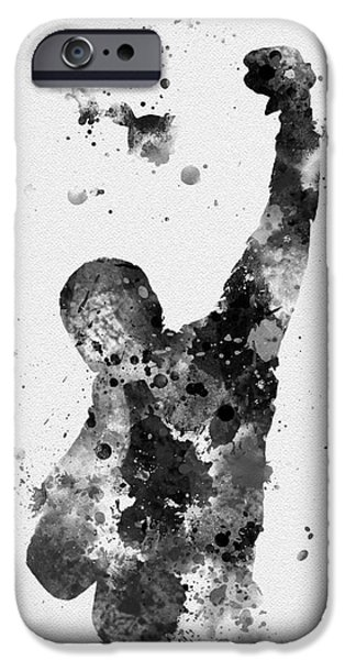 Sylvester Stallone iPhone Cases - Rocky Balboa iPhone Case by Rebecca Jenkins