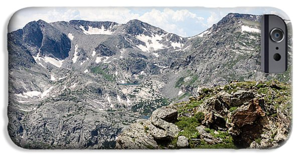 Snow iPhone Cases - Rocky Green Knoll iPhone Case by Seth Solesbee
