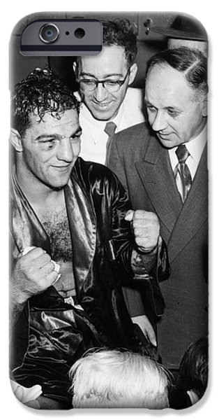 ROCKY MARCIANO (1924-1969) iPhone Case by Granger