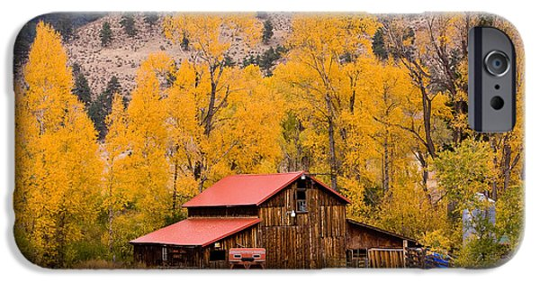Barn Poster Photographs iPhone Cases - Rocky Mountain Autumn Ranch Landscape iPhone Case by James BO  Insogna