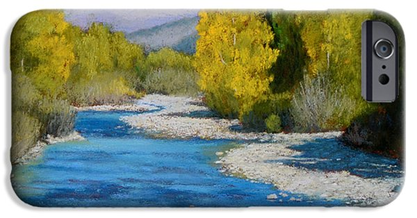 Autumn Scenes Pastels iPhone Cases - Rocky Mountain Stream iPhone Case by Xenia Sease