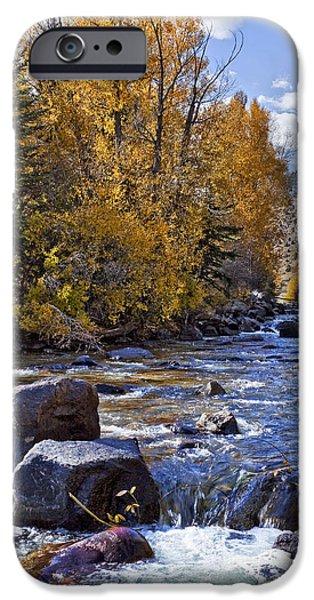 Rocky Mountain Water 8 x 10 iPhone Case by Kelley King