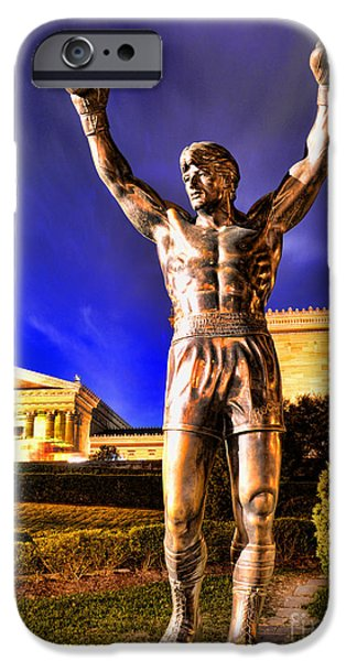 Cultural Icon iPhone Cases - Rocky iPhone Case by Paul Ward