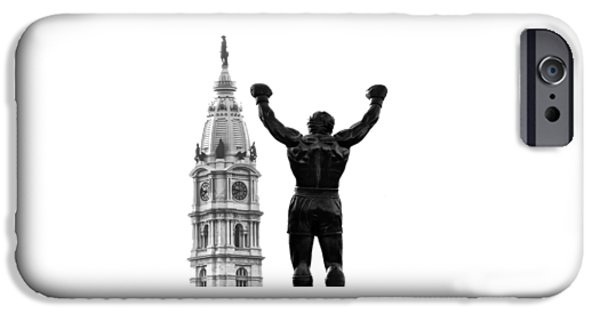 Sylvester Stallone iPhone Cases - Rocky - Phillys Champ iPhone Case by Bill Cannon