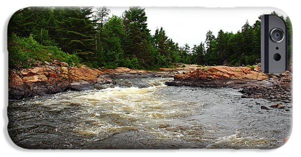 Canoe iPhone Cases - Rocky Pool iPhone Case by Debbie Oppermann