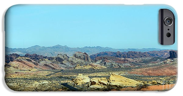 Mountain Tapestries - Textiles iPhone Cases - Rocky Rainbow Desert iPhone Case by Edna Weber