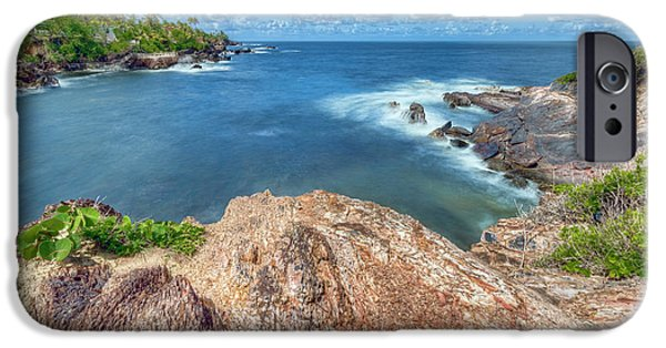 Overhang Digital iPhone Cases - Rocky Waters iPhone Case by Nadia Sanowar