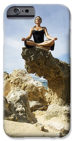 Rocky Yoga iPhone Case by Kicka Witte - Printscapes