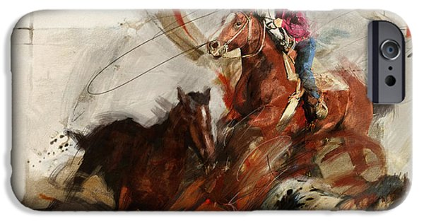 Texas City Ranger iPhone Cases - Rodeo 37 iPhone Case by Maryam Mughal