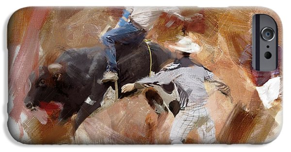Chicago Paintings iPhone Cases - Rodeo 40 iPhone Case by Maryam Mughal