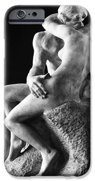 Rear View iPhone Cases - Rodin: The Kiss, 1886 iPhone Case by Granger