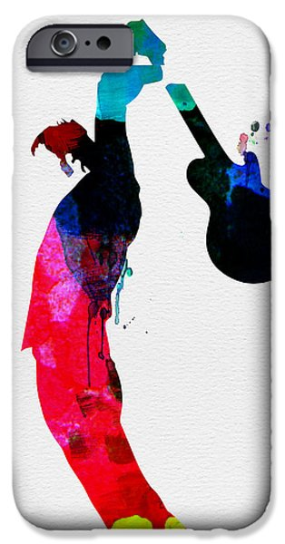 Multicolor iPhone Cases - Roger Watercolor iPhone Case by Naxart Studio