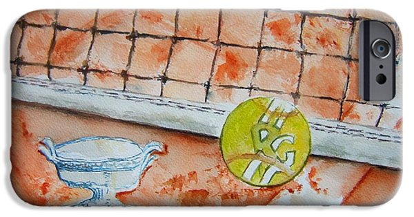 French Open Paintings iPhone Cases - Roland Garros iPhone Case by Elaine Duras