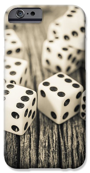 Chance iPhone Cases - Roll of the Dice iPhone Case by Edward Fielding