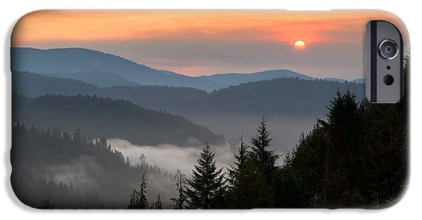 Fog Mist iPhone Cases - Rolling Sunrise iPhone Case by Dustin  LeFevre