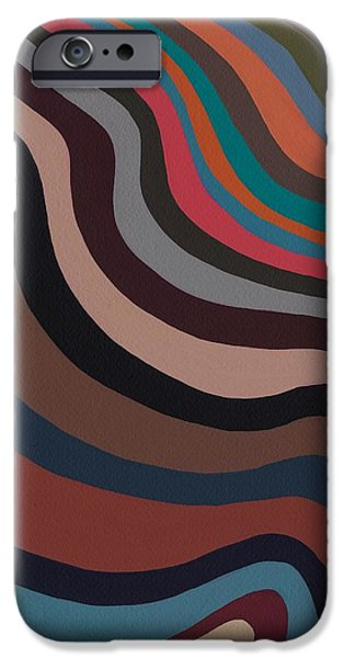 Abstract Expressionist Paintings iPhone Cases - Rolling Waves iPhone Case by Sarah Gillard