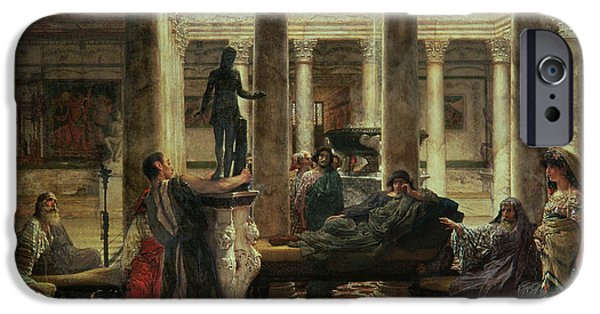 Greek Art iPhone Cases - Roman Art Lover iPhone Case by Sir Lawrence Alma-Tadema