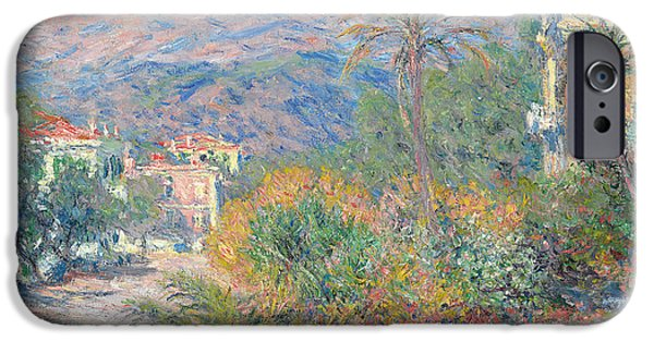 1884 iPhone Cases - Roman Road at Bordighera iPhone Case by Claude Monet