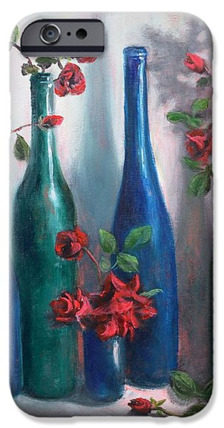 Wine Bottles iPhone Cases - Romance iPhone Case by Randy Burns