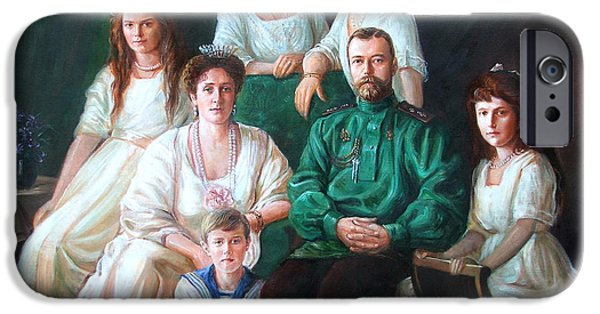 Duchess iPhone Cases - Romanov family portrait iPhone Case by George Alexander