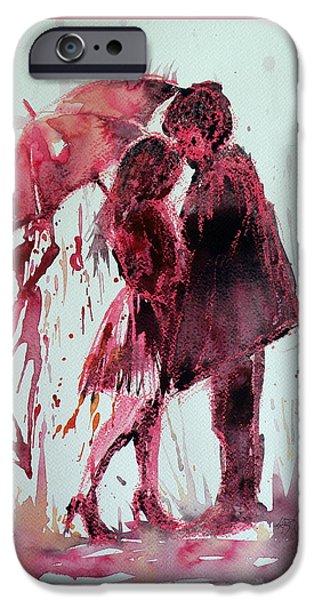 Raining iPhone Cases - Romantic iPhone Case by Kovacs Anna Brigitta