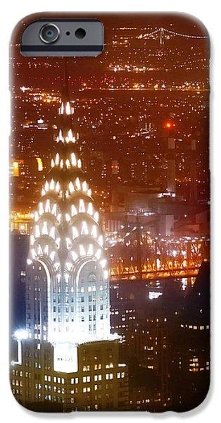 Art Of Building iPhone Cases - Romantic Manhattan iPhone Case by Az Jackson