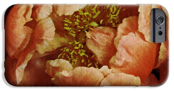 Business Digital Art iPhone Cases - Romantic Peony iPhone Case by Sarah Loft