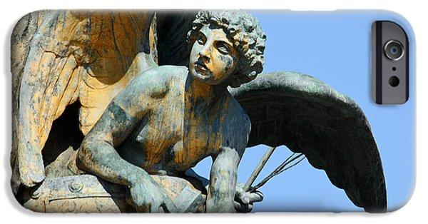 Angel Blues iPhone Cases - rome ... eternal city IX iPhone Case by Meleah Fotografie