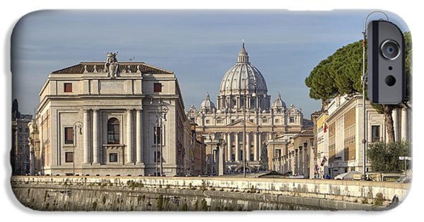 Vatican iPhone Cases - Rome - St. Peters Basilica iPhone Case by Joana Kruse