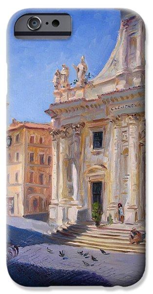 Basilica iPhone Cases - Rome Basilica S Giovanni Battista dei Fiorentini iPhone Case by Ylli Haruni