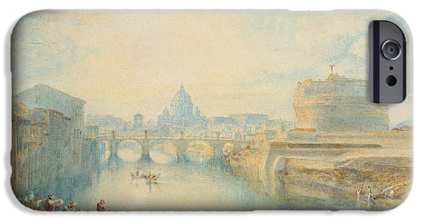 River iPhone Cases - Rome iPhone Case by Joseph Mallord William Turner