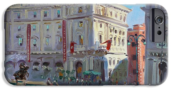 Fountain iPhone Cases - Rome Piazza Republica iPhone Case by Ylli Haruni