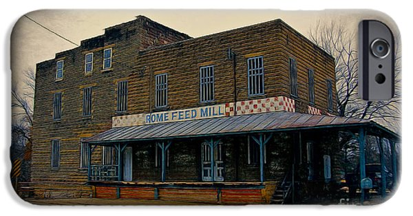 Feed Mill Photographs iPhone Cases - Rome Wisconsin Feed Mill iPhone Case by Clare VanderVeen