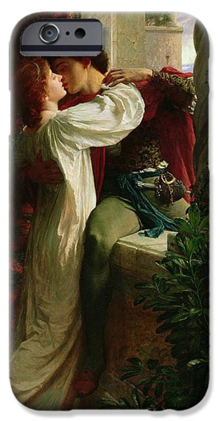 Day iPhone Cases - Romeo and Juliet iPhone Case by Sir Frank Dicksee