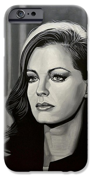 Drama iPhone Cases - Romy Schneider iPhone Case by Paul Meijering