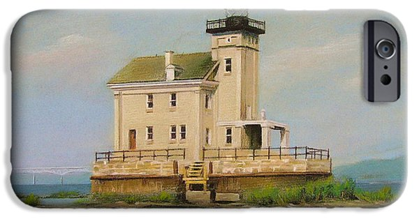 Hudson River Pastels iPhone Cases - Rondout Light iPhone Case by Mei  He