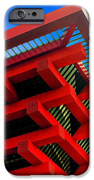 Roof Corner - Expo China Pavilion Shanghai iPhone Case by Christine Till
