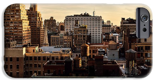 Buildings iPhone Cases - Rooftop Meditation iPhone Case by Kenneth Neal