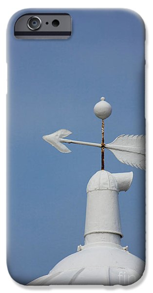 Weathervane Photographs iPhone Cases - Rooftop of lighthouse iPhone Case by Gabriela Insuratelu