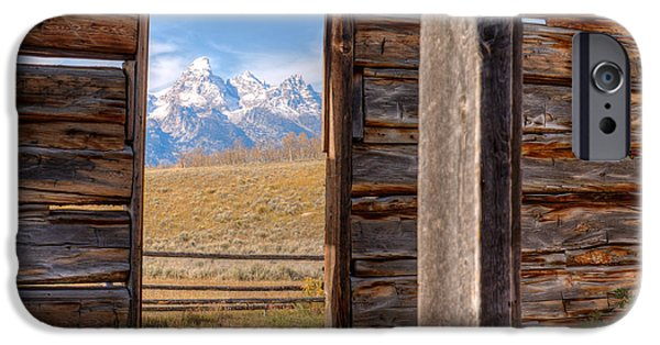 Cabin Window iPhone Cases - Room With A View iPhone Case by Kristina Rinell