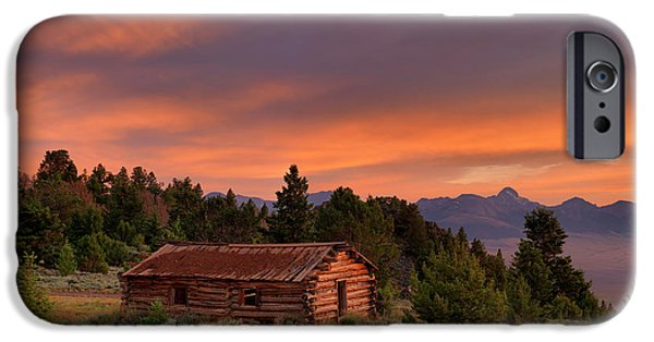 Mountain Cabin iPhone Cases - Room With a View iPhone Case by Leland D Howard